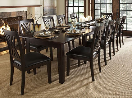 A America dining room table and chairs