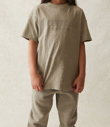 FOG - Fear Of God Kids Essentials Heather Oatmeal T-Shirt