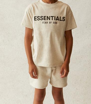 FOG - Fear Of God Kids Essentials Oatmeal T-Shirt
