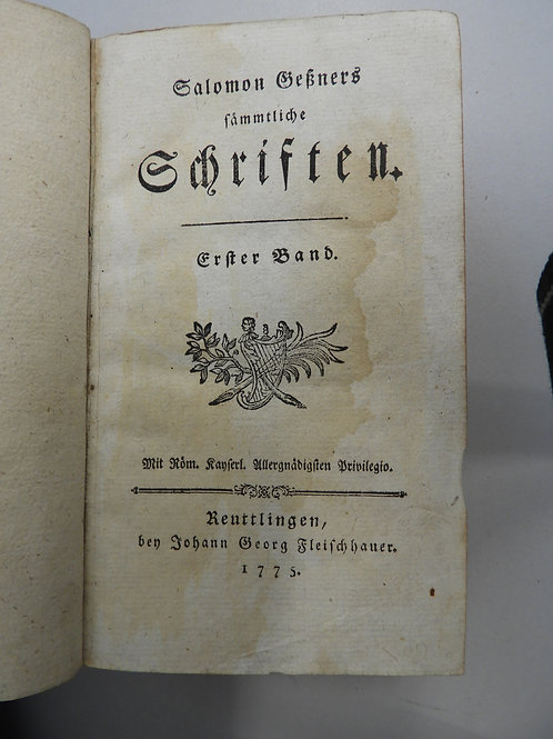 Salomon Geßners Sämmtliche Schriften