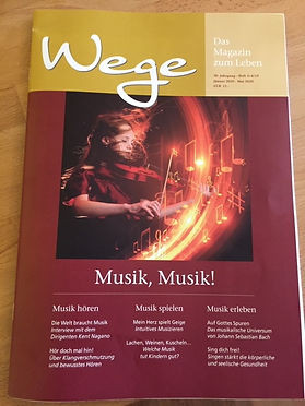 WEGE Magazin Cover 2020