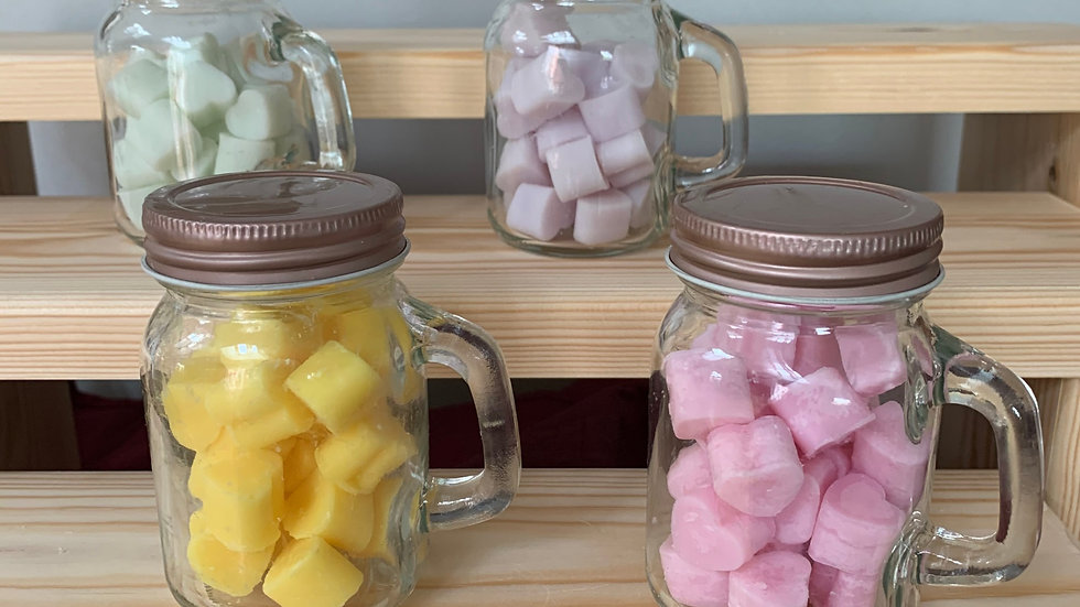 Mini Mason jar little love heart wax melts