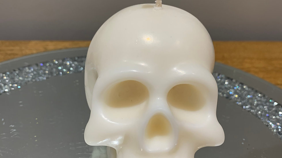 Large Scented Skull  Candle