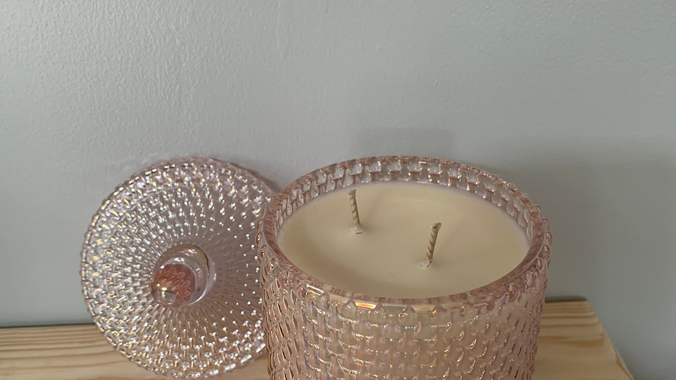 Perfume Inspired Grapefruit Lux Raindrop Geo Container Candles