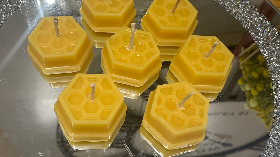 Honeycomb Beeswax Tea light candles