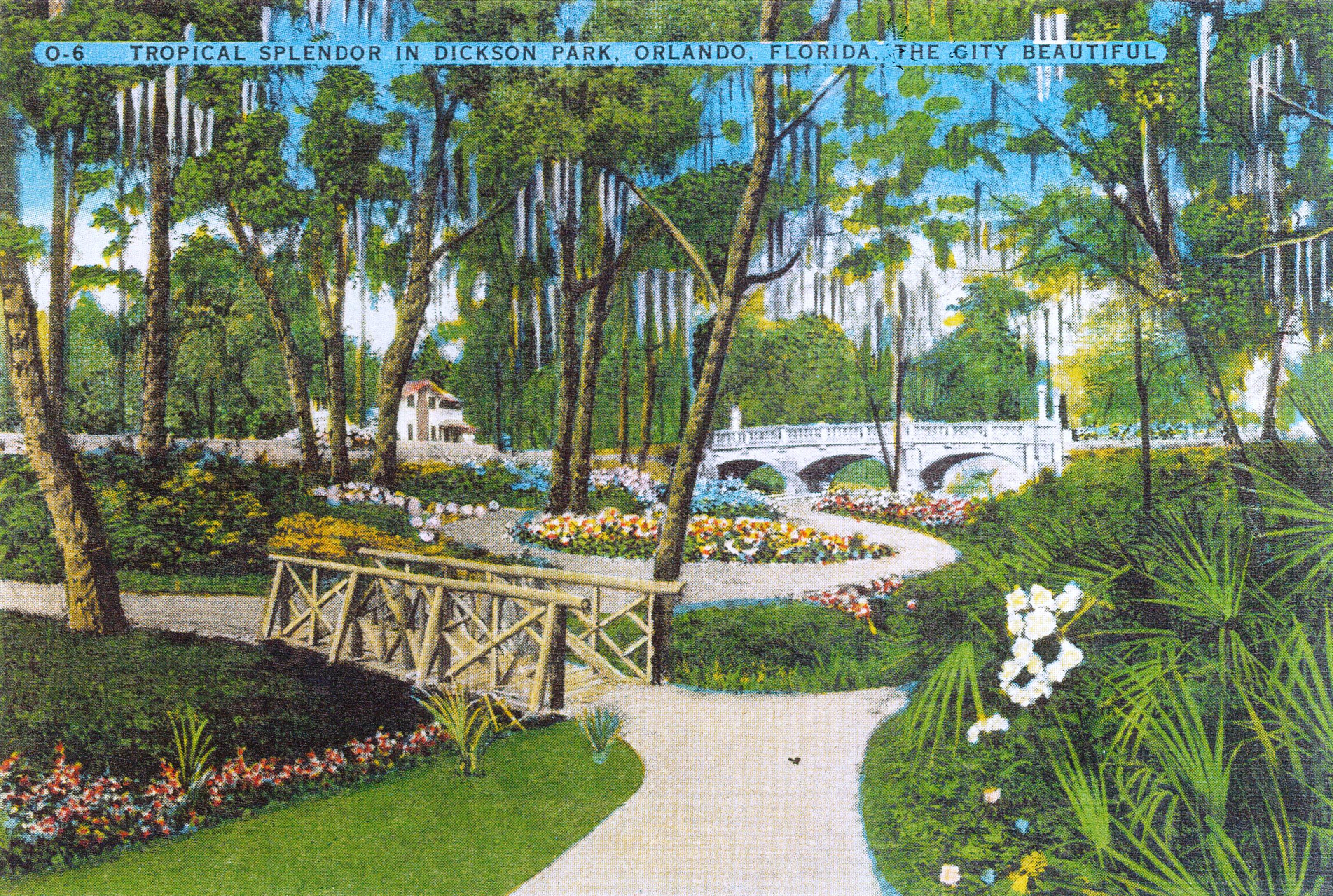 Dickson-Azalea-Park-postcard-circa-1945