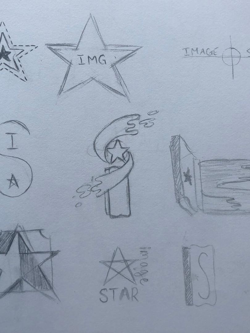 Brainstorming Sketches of Logo