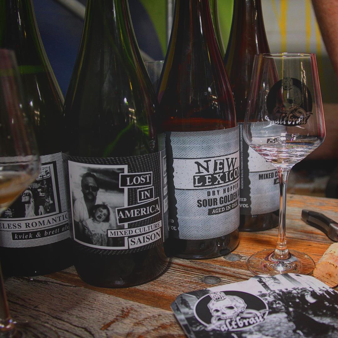 Alt Brau Bottles and Merch