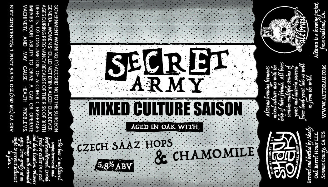 Secret Army Label