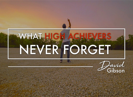 One Thing That High Achievers Do Every Day