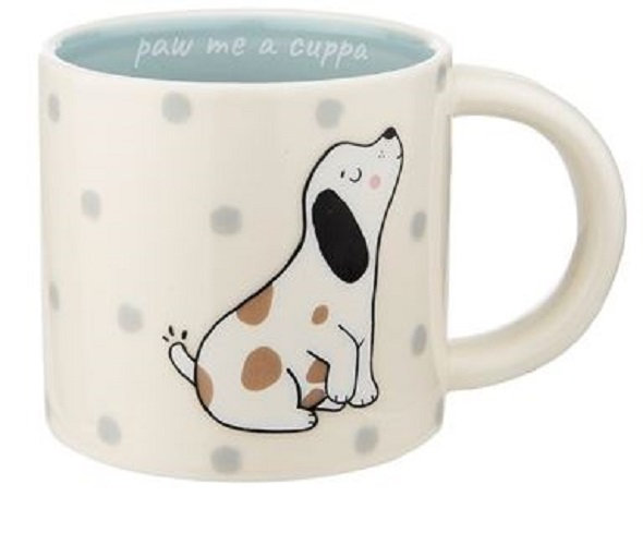 Sass & Belle Barney the Dog Paw me a Cuppa Porcelain Mug