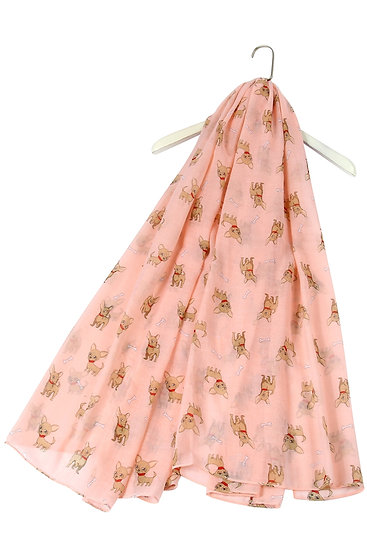 Pink Chihuahua Puppy Dog Scarf