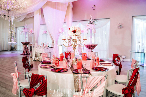 Fully designed wedding venue