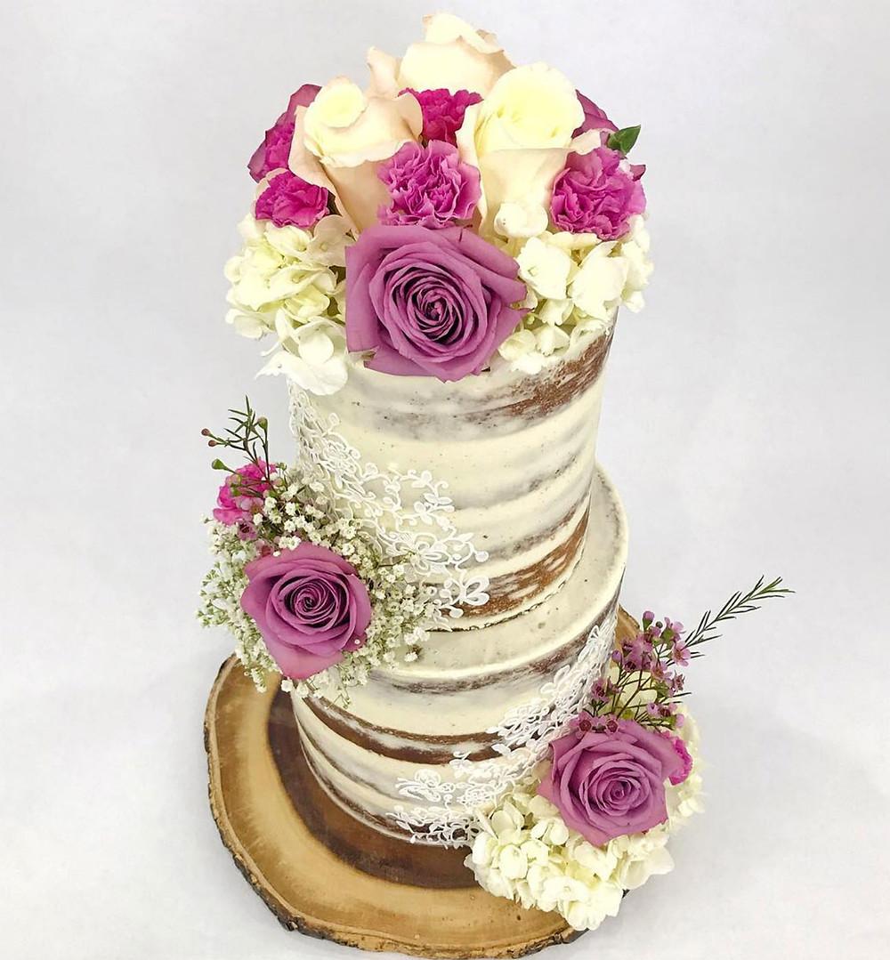 Rustic Spring Wedding Cake