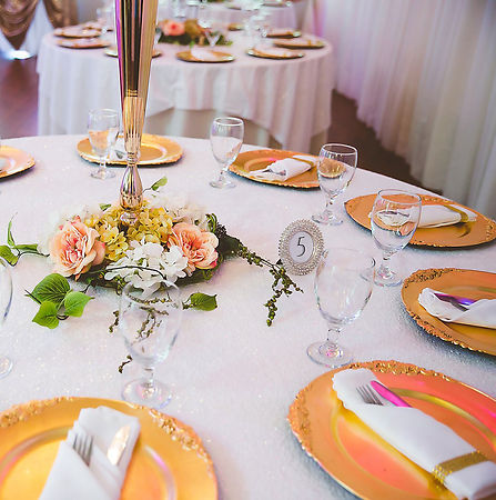 Chinaware at the Wedding Venue