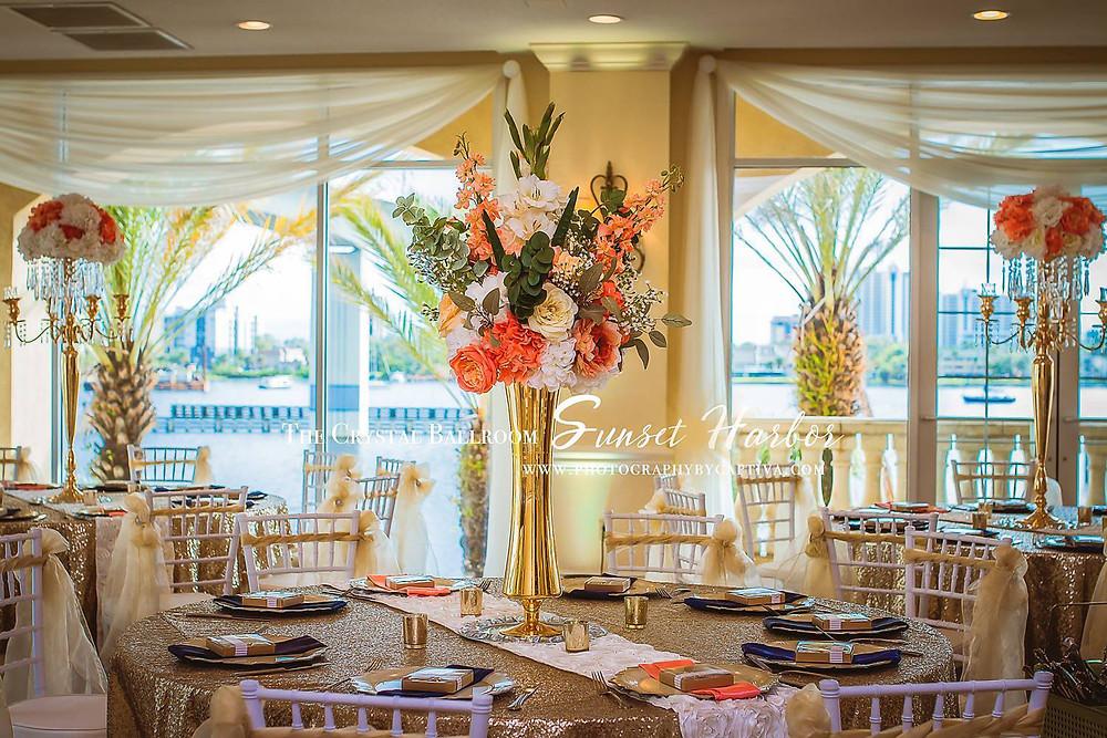 Crystal Ballroom at Sunset Harbor Wedding Venue