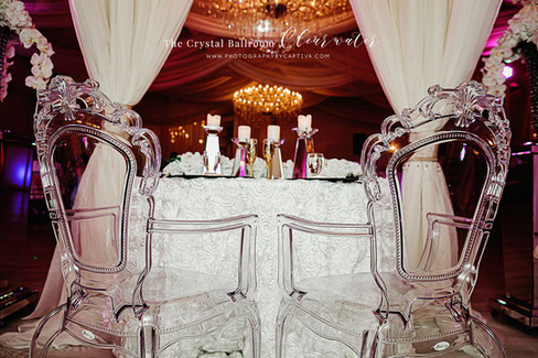 Decorated sweetheart table
