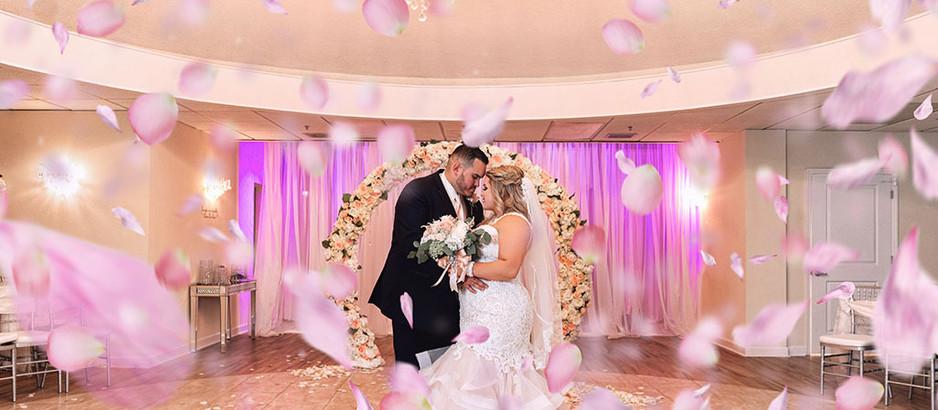 Rose Petal Aisle Wedding Venue Décor