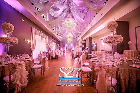 Receptions at a Crystal Ballroom Banquet Hall