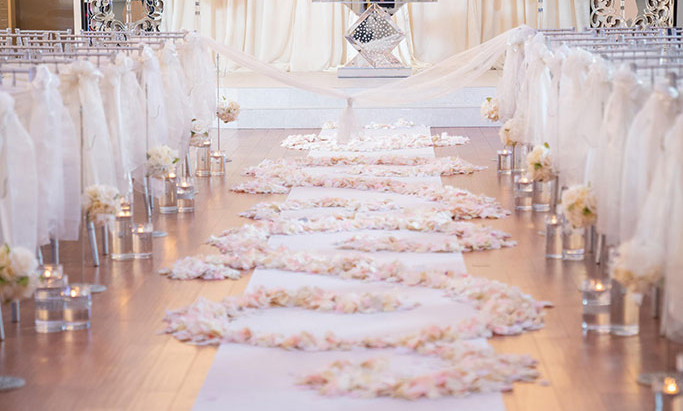 Rose Petals at Your Wedding Venue
