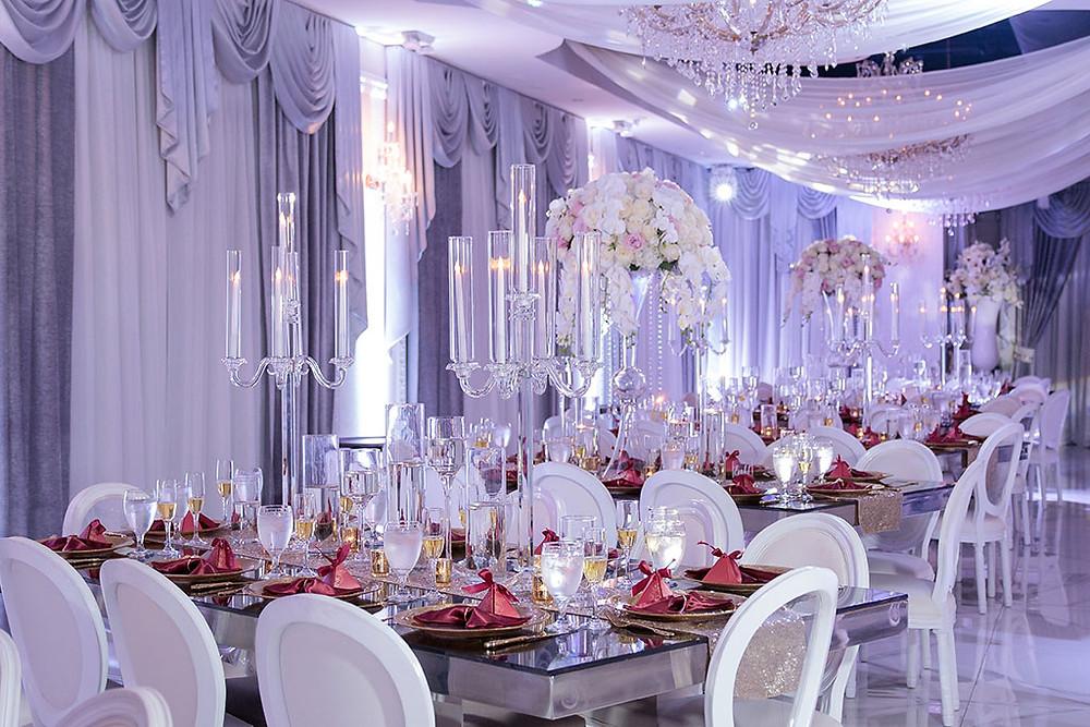 Reception Designs for a Wedding Venue