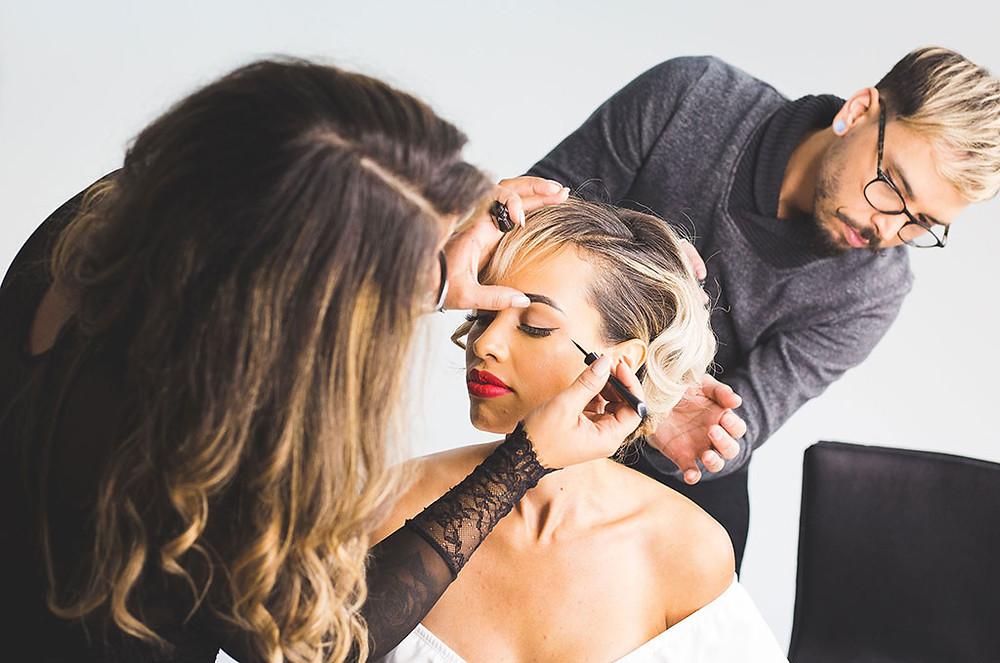 Wedding Hair and Wedding Makeup