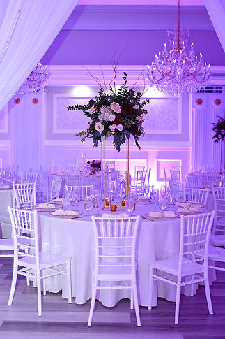 Uplighting in the Banquet Hall