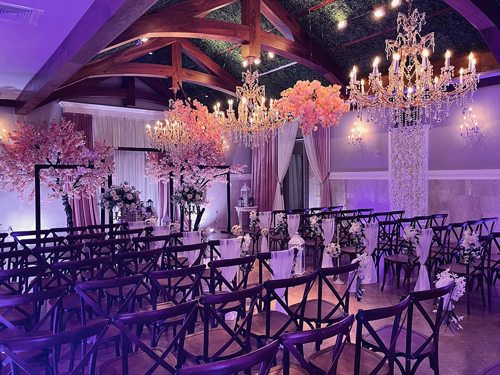 Rose Petal Aisle Decor