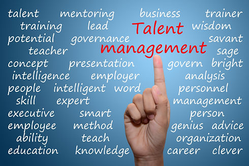 business man pointing talent management