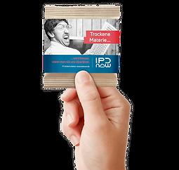 Gute Handvoll Nuss-Frucht Mischung Minitüte Papier mit Banderole Kundenbeispiel 2