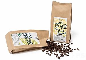 Nachhaltige Kaffeebohnen mit Logo als Geschenk zu Weihnachten