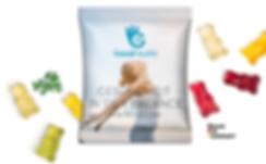 Fruchgummis in der veganen Minitüte mit Logodruck