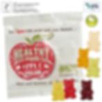 Vegane Fruchtgummi Bären in der Minitüte mit Logodruck