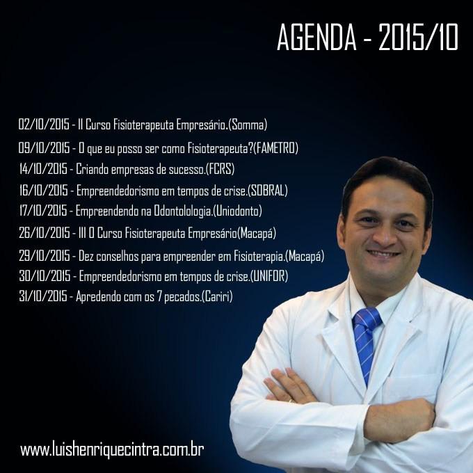 Eventos para Outubro/2015.
