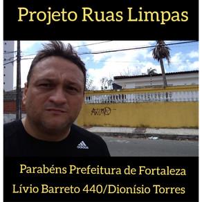 Projeto Ruas Limpas, parabéns Prefeitura de Fortaleza.