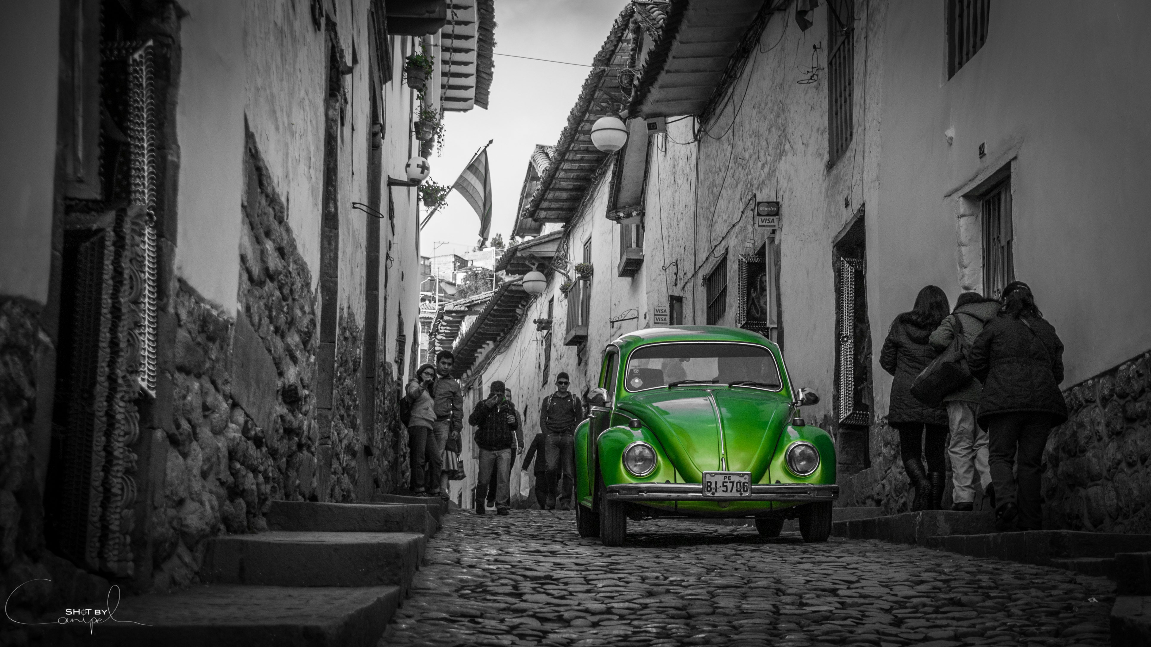 Green VW Beetle