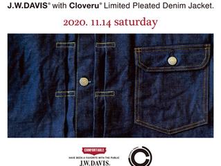 1DAY POP UP STORE. 【J.W.DAVIS Japan × Cloveru Limited Pleated Denim Jacket. (Split-Back)】
