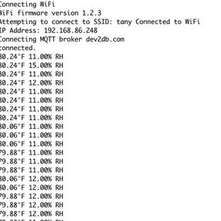 week 2 Posting Data with MQTT