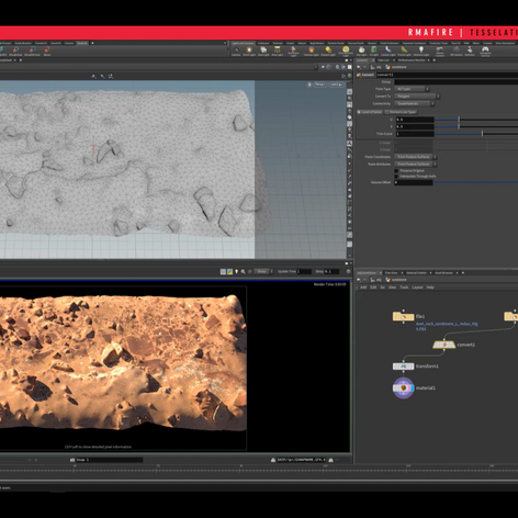 Displacement and Tessellation in Houdini with Redshift