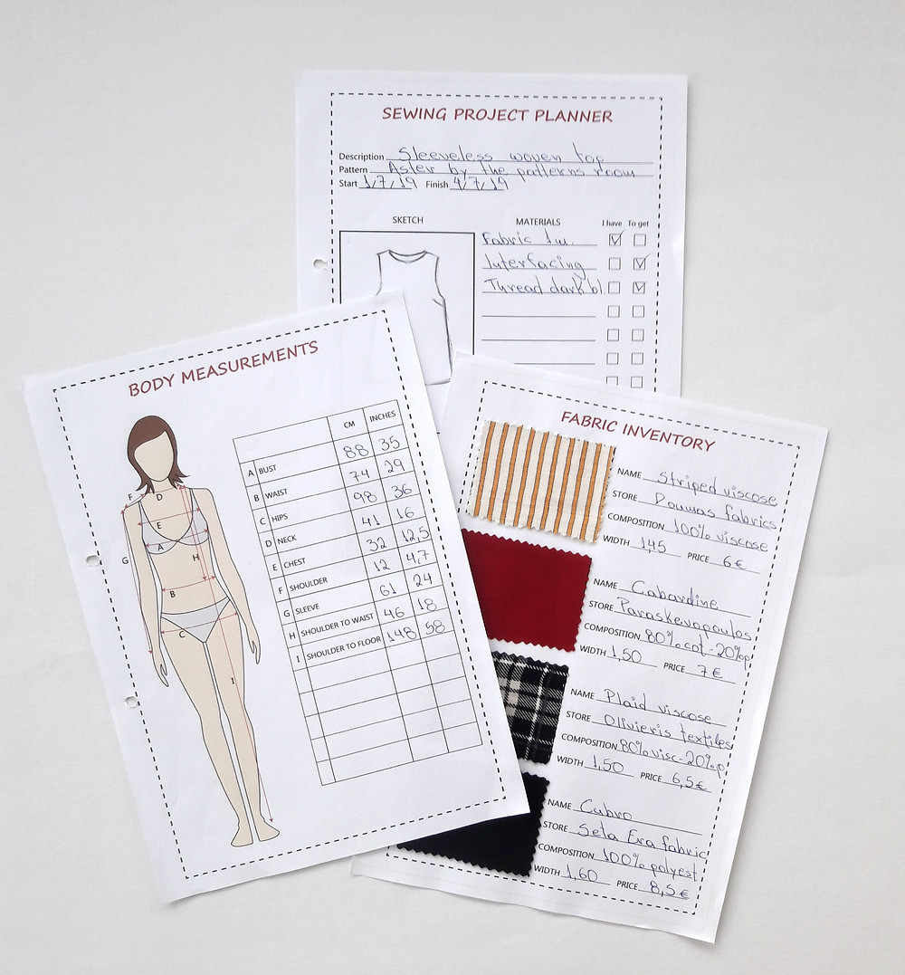 Free Sewing Planner