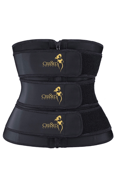 Cre8ed Couture Triple Strap Waist Trainer