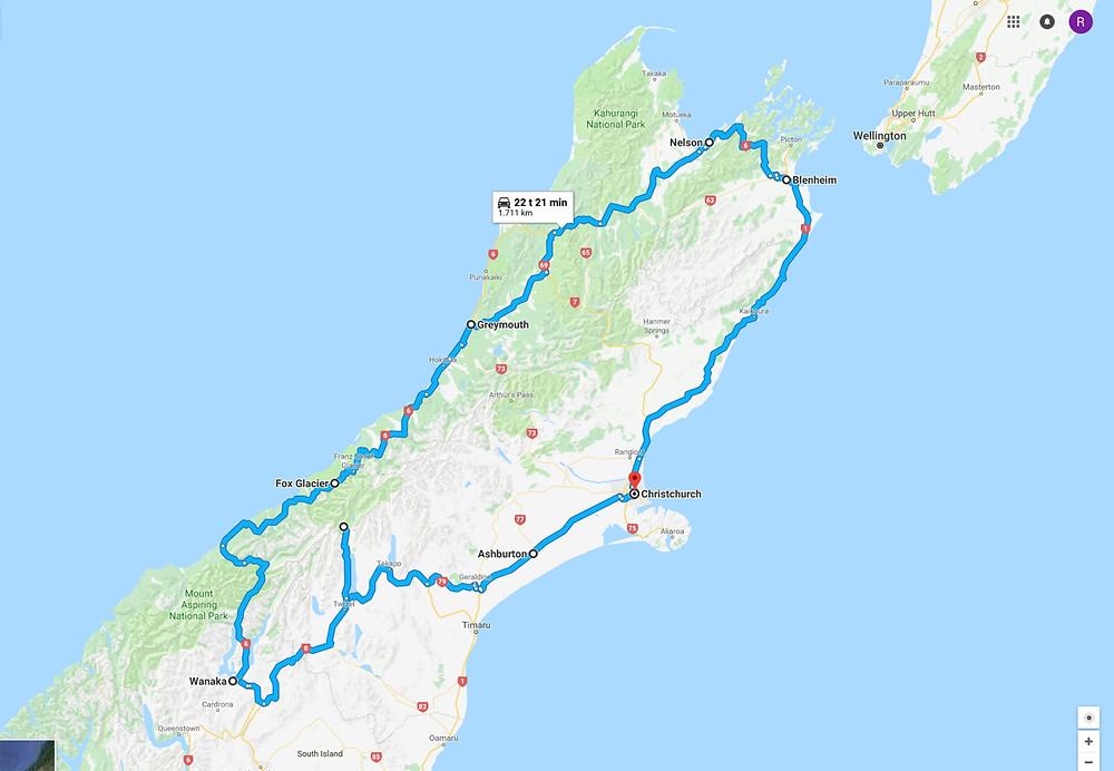 New Zealand rute