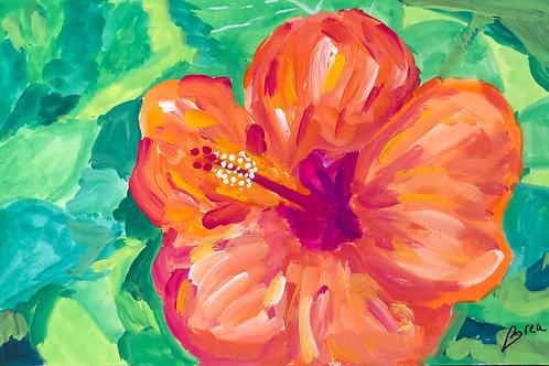Hibiscus by guest artist Brea Mond