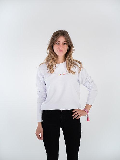 Le coloré sweat - Blanc unisexe
