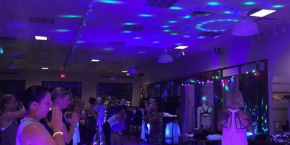 Blacklight Paint and Yoga Party