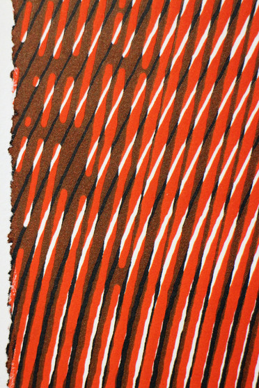 3500 red + black moire (detail)