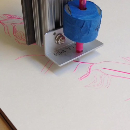 Drawing with the CNC machine