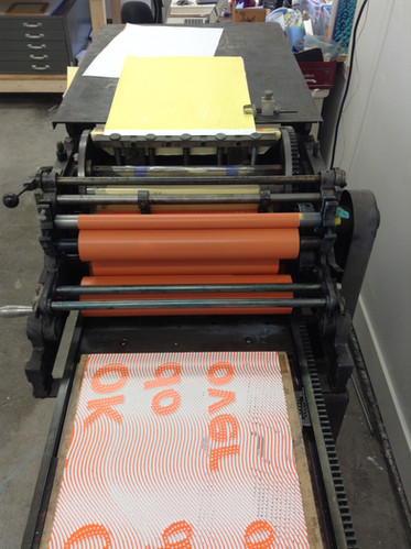 Printing Ok Do Over artists books on Challenge Proof Press