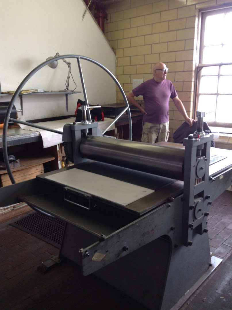 Printing at Kala Institute of Art