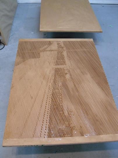 Cut woodcut plate